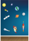 űrhajós falmatrica