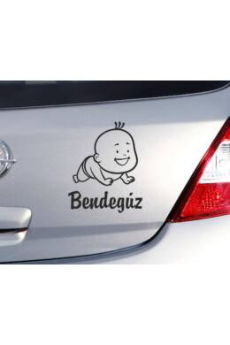 Négykézláb - baby on board matrica névvel