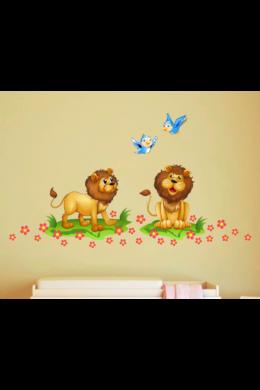Vidám oroszlánok falmatrica csomag