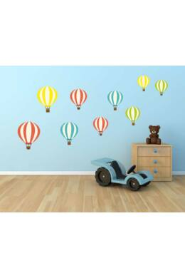 Színes hőlégballonok falmatrica csomag