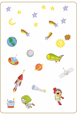 Űrhajós falmatrica - Űrutazás falmatrica csomag