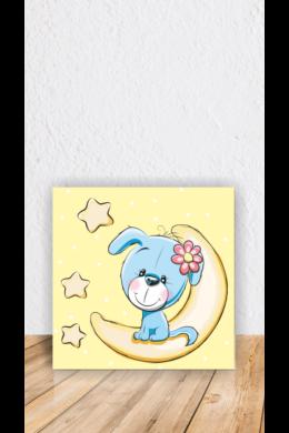 Kutyus holdon vászonkép