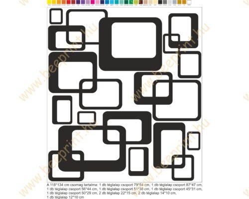 modern absztrakt falmatrica, lila, fekete, zöld, fehér faltetoválás