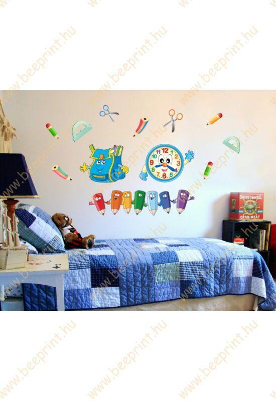 színes falmatrica gyerekszobába, óvoda dekoráció