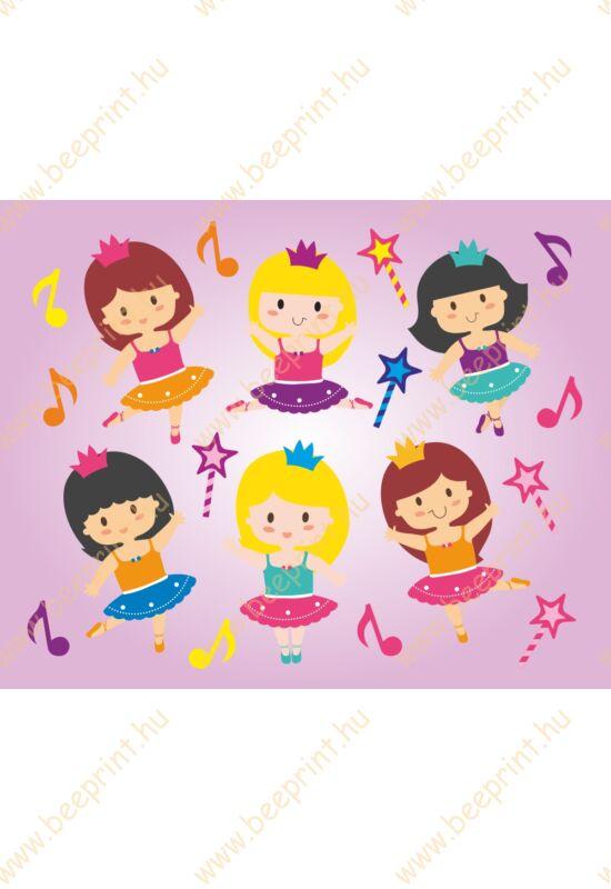 táncos, balerinás,lányos, falmatrica, gyerekszoba, dekoráció
