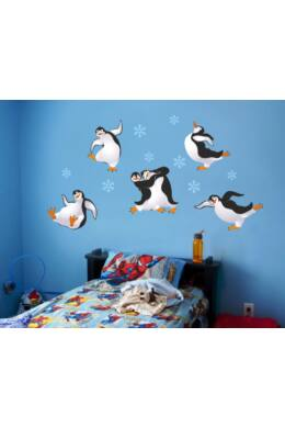 pingvines állatos falmatrica