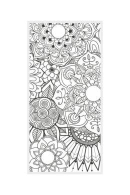 Mandala - színezhető falmatrica - 32x65cm